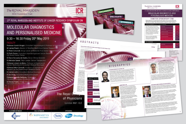 Conference Poster and associated material for the Institute of cancer research.