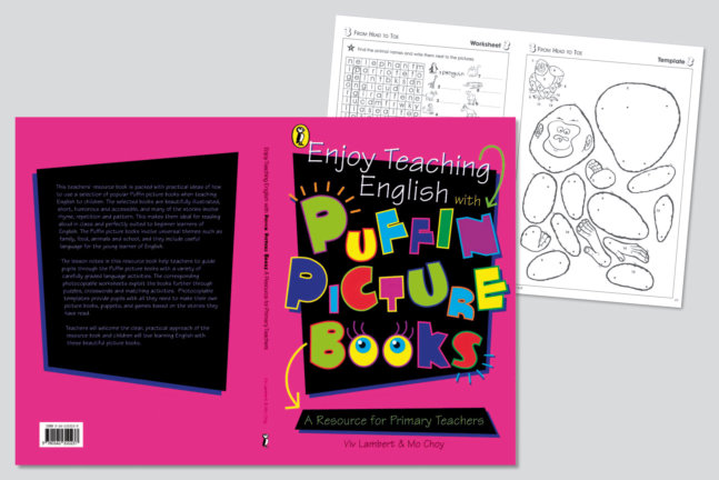 Design and packaging of a resource book including photocopiable templates for Puffin books.