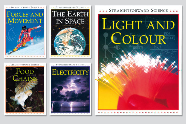 Straightforward Science. 8-book series designed for Watts Publishing