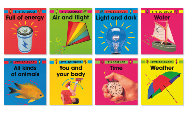 It's Science! 18 book series designed for Watts Publishing.